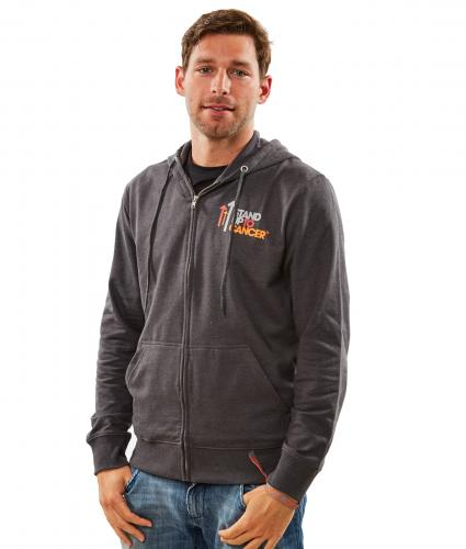 Stand Up To Cancer Mens Grey Hoodie