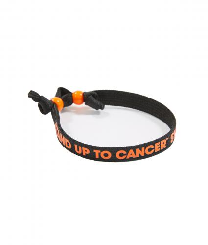 Wristband with Beaded Clasp - Black