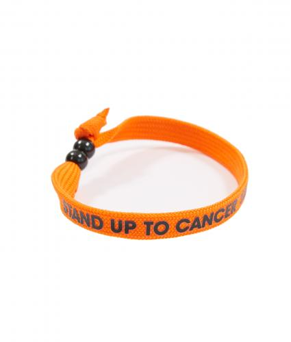 Wristband with Beaded Clasp - Orange