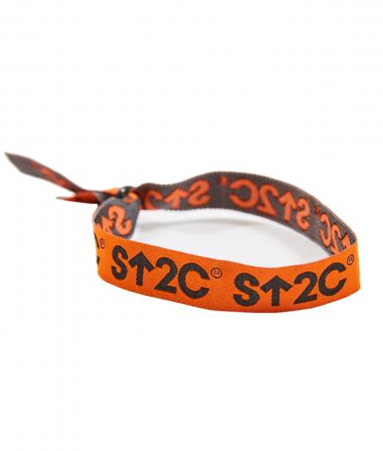 Orange Short Logo Wristband