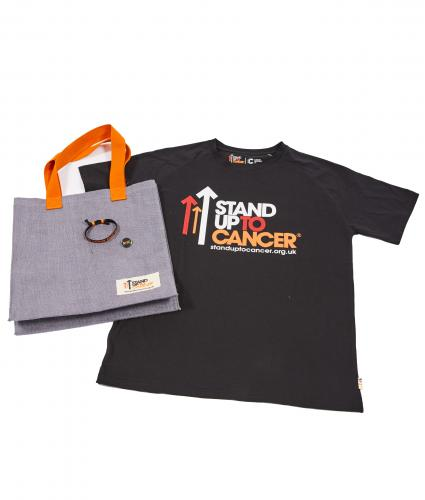 Stand Up To Cancer Men's Supporters Bundle - Black T-Shirt