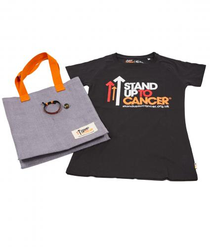 Stand Up To Cancer Women's Supporters Bundle - Black T-Shirt