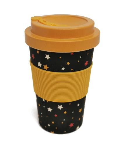 Stand Up To Cancer Reusable Bamboo Cup Black