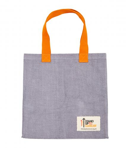 Stand Up To Cancer Grey Jute Shopper Bag