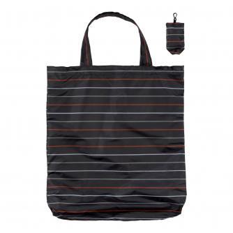 Stripes Foldaway Keyring Shopping Bag