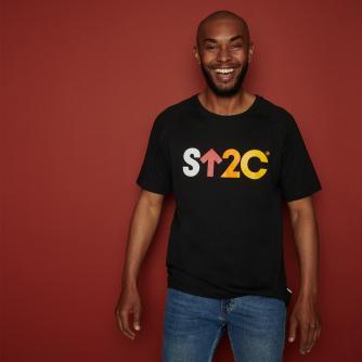 Stand Up To Cancer Men's Short Logo Black T-shirt