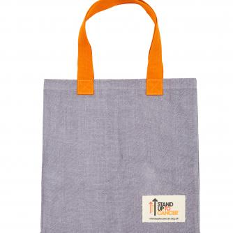 Stand Up To Cancer Grey Jute Shopping Bag